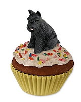 Schnauzer Black Pupcake Trinket Box