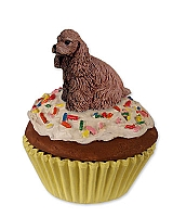 Cocker Spaniel Brown Pupcake Trinket Box