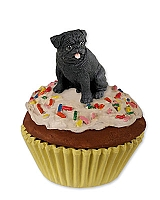 Pug Black Pupcake Trinket Box