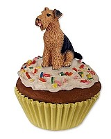 Airedale Pupcake Trinket Box