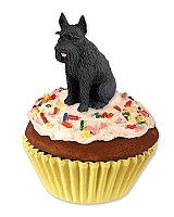 Schnauzer Giant Black Pupcake Trinket Box