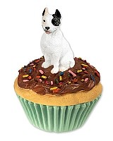 Pit Bull Terrier White Pupcake Trinket Box