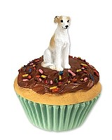 Whippet Tan & White Pupcake Trinket Box