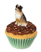 Australian Shepherd Brown Pupcake Trinket Box
