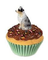 Australian Shepherd Blue w/Docked Tail Pupcake Trinket Box