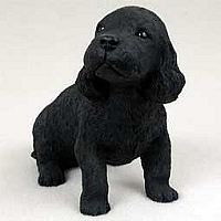 Cocker Spaniel Black Puppy Figurine
