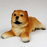 Chow Red Puppy Figurine