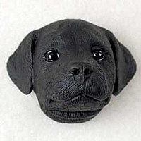 Labrador Retriever Black Puppy Magnet