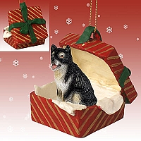 Alaskan Malamute Gift Box Red Ornament