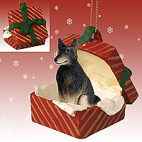 Belgian Tervuren Gift Box Red Ornament
