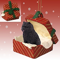Chow Black Gift Box Red Ornament