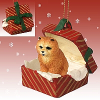 Chow Red Gift Box Red Ornament