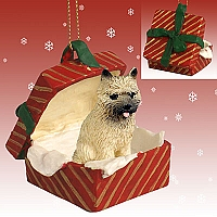 Cairn Terrier Red Gift Box Red Ornament