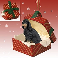 Gordon Setter Gift Box Red Ornament