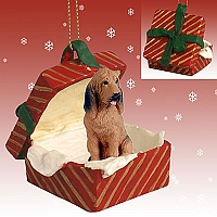 Bloodhound Gift Box Red Ornament
