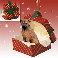 Bullmastiff Gift Box Red Ornament