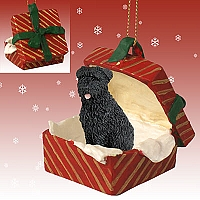 Bouvier des Flandres Gift Box Red Ornament