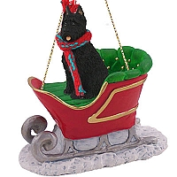 Bouvier des Flandres Sleigh Ride Ornament