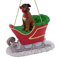 Italian Greyhound Sleigh Ride Ornament