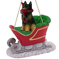 Belgian Tervuren Sleigh Ride Ornament