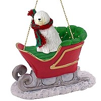 Komondor Sleigh Ride Ornament