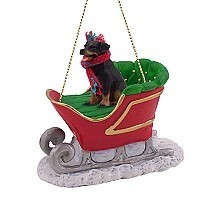 Rottweiler Sleigh Ride Ornament