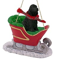 Cocker Spaniel English Black Sleigh Ride Ornament