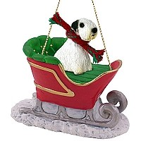 Sealyham Terrier Sleigh Ride Ornament