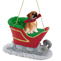 Puggle Sleigh Ride Ornament