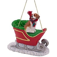 Beagle Sleigh Ride Ornament
