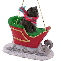 Chow Black Sleigh Ride Ornament