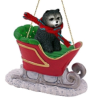 Chow Blue Sleigh Ride Ornament