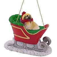 Pekingese Sleigh Ride Ornament