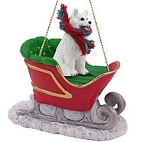 Samoyed Sleigh Ride Ornament