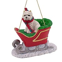 West Highland Terrier Sleigh Ride Ornament