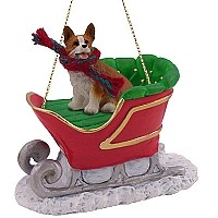 Welsh Corgi Pembroke Sleigh Ride Ornament