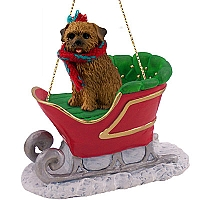 Norfolk Terrier Sleigh Ride Ornament