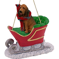 Bloodhound Sleigh Ride Ornament