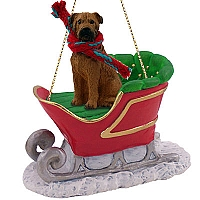 Bullmastiff Sleigh Ride Ornament