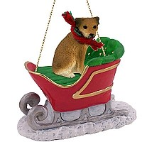 Border Terrier Sleigh Ride Ornament