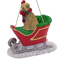 Soft Coated Wheaten Terrier Sleigh Ride Ornament
