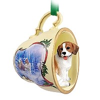 Beagle Tea Cup Sleigh Ride Holiday Ornament