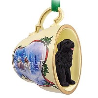 Newfoundland Tea Cup Sleigh Ride Holiday Ornament