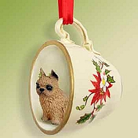 Brussels Griffon Red Red Holiday Tea Cup Ornament