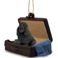 Poodle Black Traveling Companion Ornament