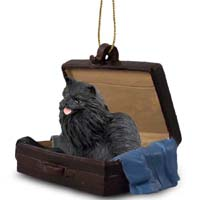Pomeranian Black Traveling Companion Ornament