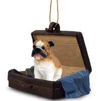 Bulldog Traveling Companion Ornament