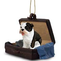 Bulldog Brindle Traveling Companion Ornament
