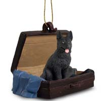 German Shepherd Black Traveling Companion Ornament