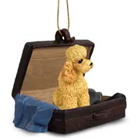 Poodle Apricot w/Sport Cut Traveling Companion Ornament